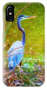 Fishing In The Reeds IPhone Case