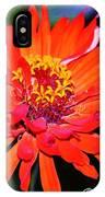 Flaming Orange Flower IPhone Case