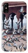 Flight Of Pigeons Inside The Jama Masjid In Delhi IPhone Case
