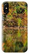 Floating Leaves In Tranquility IPhone Case