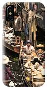 Floating Market Bangkok IPhone Case