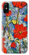 Floral Art - Red Poppies IPhone Case