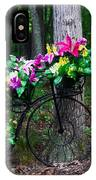 Floral Bicycle On A Cloudy Day IPhone Case