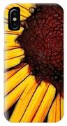 Flower - Yellow And Brown - Abstract IPhone Case