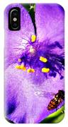 Flower And Bee IPhone Case