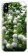 Flowering Snowball Shrub IPhone Case
