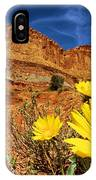 Flowers And Buttes IPhone Case