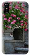 Flowers On The Steps IPhone Case