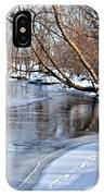 Flowing Water In The Winter IPhone Case