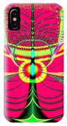 Fluorescent Butterfly Fractal 68 IPhone Case
