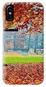 Foggy Autumn Cemetery IPhone Case