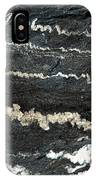 Folds Of Calcite In Limestone Rock IPhone Case