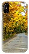 Follow The Yellow Leafed Road Painted IPhone Case
