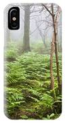 Forest Ferns On A Foggy Morning IPhone Case
