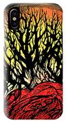 Forest Fire, Lino Print IPhone Case