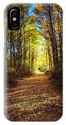 Forest Path In Autumn IPhone Case