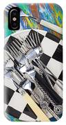 Forks On Checker Plate IPhone Case