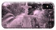 Forsyth Park Fountain In Pink IPhone Case