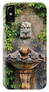 Fountain In The Walled Garden, Florence IPhone Case