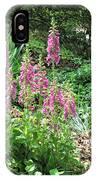 Foxgloves In My Garden IPhone Case
