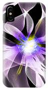 Fractal Flower . Dahlia IPhone Case