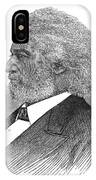 Frederick Douglass (c1817-1895). American Abolitionist. Wood Engraving, American, 1877 IPhone Case