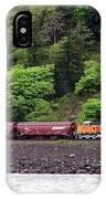 Freight Train Traveling Up The Gorge IPhone Case