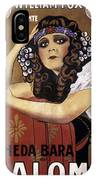 French Poster: Salome, 1918 IPhone Case