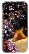 Fresh Blackberry Waffles IPhone Case