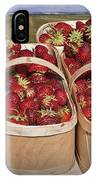 Fresh Picked Strawberries IPhone Case