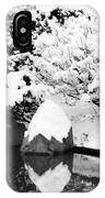 Fresh Snow And Reflections In A Japanese Garden 1 IPhone Case
