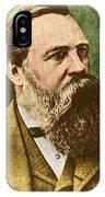 Friedrich Engels, Father Of Communism IPhone Case