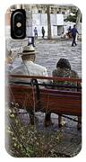 Friends On Park Bench IPhone Case