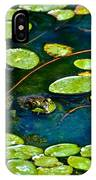 Frog And Lily Pads IPhone Case