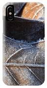 Frost On Oak Leaf IPhone Case