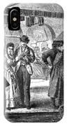 Fulton Fish Market, 1870 IPhone Case