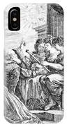 Galileo With Telescope Pointing To Sky IPhone Case