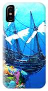 Galleon On The Cliff Filtered IPhone Case