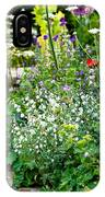 Garden Flowers With Stream IPhone Case