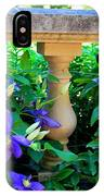 Garden Wall With Periwinkle Flowers IPhone Case