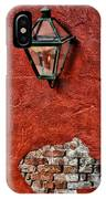 Gaslight On A Red Wall IPhone Case