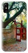 Gate In Brick Wall IPhone Case