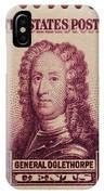 General James Oglethorpe Postage Stamp IPhone Case