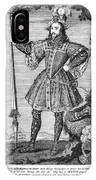 George Cumberland (1558-1605). George De Clifford Cumberland. 3rd Earl Of Cumberland. English Naval Commander And Courtier. Line Engraving, English, Early 19th Century IPhone Case