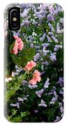 Geranium And Lilac Painting IPhone Case