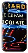 Ghirardelli Chocolate Signs At Night IPhone Case
