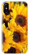 Giant Sunflowers For Sale In The Swiss City Of Lucerne IPhone Case