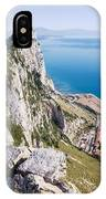 Gibraltar Rock And Mediterranean Sea IPhone Case