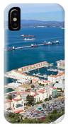 Gibraltar Town And Bay IPhone Case