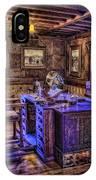 Gillette Castle Office Hdr IPhone Case